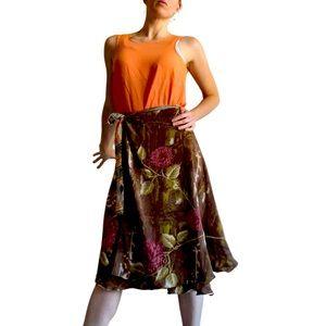 ISHKA reversible wrap skirt, layered perfection